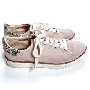 Liebeskind Berlin Pink Suede Snake Sneakers